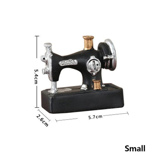 Mini Sewing Machine Sewing Room Resin Retro Ornament Small #203