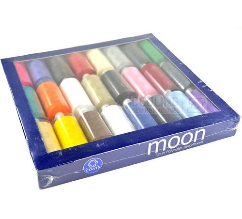 MOON Coats Polyester Sewing & Overlocker Thread Set 24 x 1000m - Basic