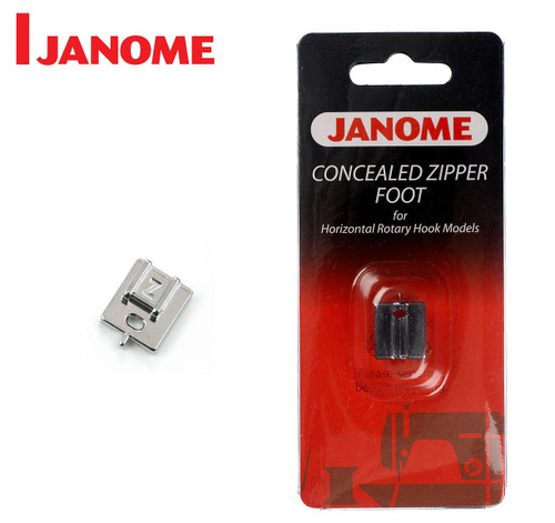 JANOME CONCEALED ZIPPER FOOT Z - 200333001 - CATEGORY B & C - OPENED PACKET