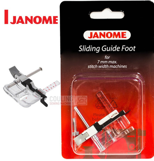 JANOME SLIDING GUIDE FOOT SG - 202218005 -  CATEGORY B & C - OPENED PACKET