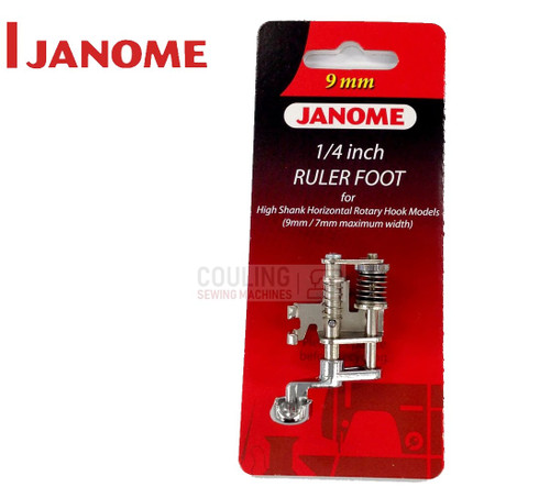 JANOME NEW 1/4 RULER WORK FOOT HIGH - 202441009  CATEGORY C & D 9mm