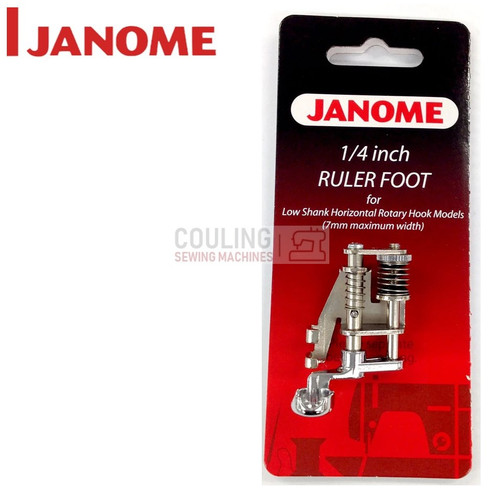 JANOME NEW 1/4 RULER WORK FOOT LOW 202442000 CATEGORY B