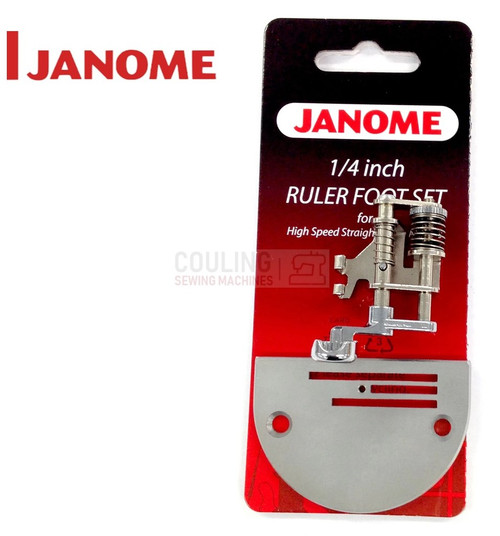 JANOME NEW 1/4 RULER WORK FOOT 767441005 1600P HD9 ONLY