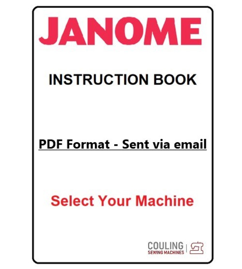 Genuine Janome Sewing Machines Instruction Manual - PDF File Format Only
