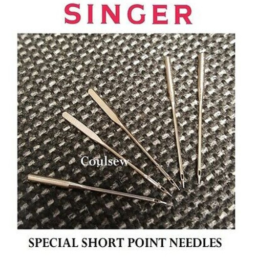5 Singer Sewing Machine Needles Special Short Point for 206K 306K 319K 320K