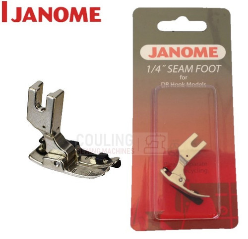 """JANOME HD9 1600p 1/4"""" Seam Quilting Foot DB Hook - 767820105"""