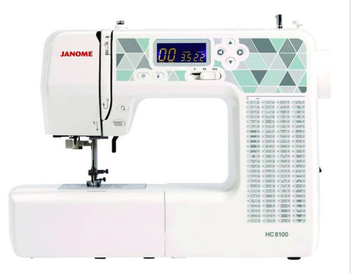 JANOME HC8100 SEWING MACHINE -100 stitches - Ex-demonstration model