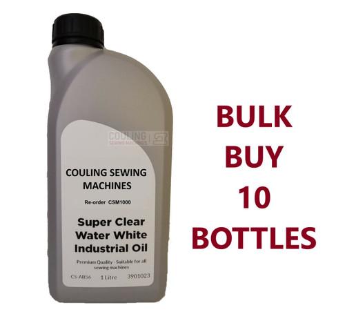 Bulk Buy Clear Industrial Sewing Machine Oil 10 Bottles