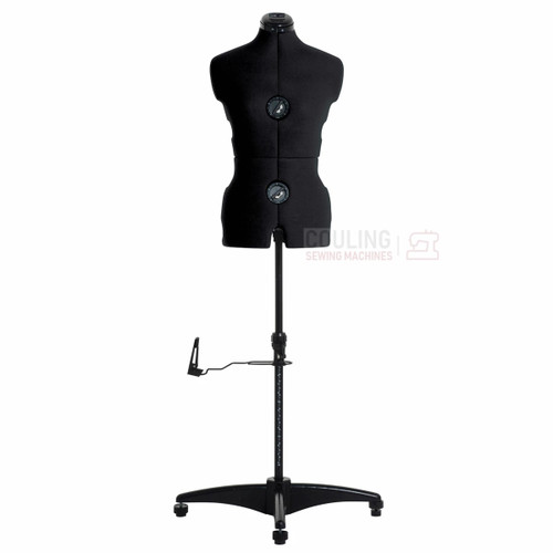 Milward Adjustable Dress Form with Hem Marker - SMALL Size Approx. 8 - 16 in BLACK (Tailors Dummy / Mannequin)