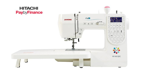 Janome M100QDC Sewing Machine + Quilt Bonus Pack