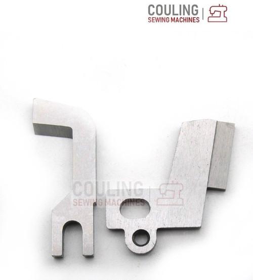 Overlocker Blade Knife Upper & Lower Set Compatible with Singer 14J250 14J334 79089 79090