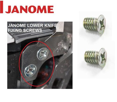 Janome Overlock Lower Knife Blade Holding SCREW - 000102209 x2