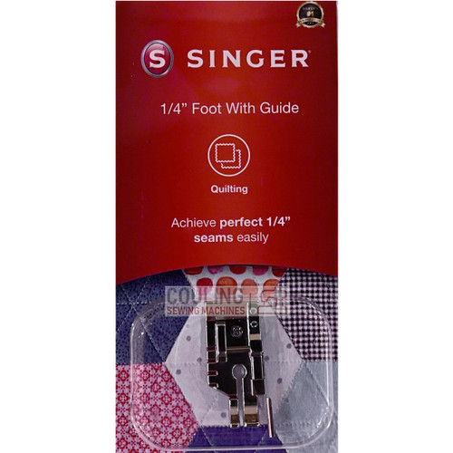 """SINGER 1/4"""" + Guide Patchwork Quilting Foot Genuine Pack 250051996"""