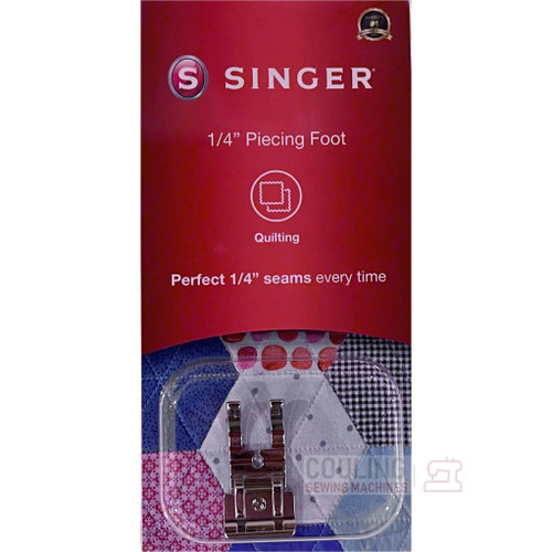 """SINGER 1/4"""" NO Guide Piecing Patchwork Quilting Foot Genuine Pack 250026706"""