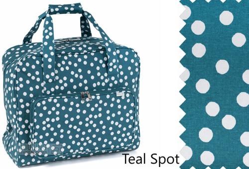 Premium Sewing Machine Carry Bag TEAL SPOT 434