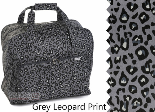 Premium Sewing Machine Carry Bag Grey Leopard Print 574