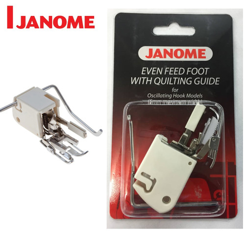 JANOME EVEN FEED WALKING FOOT WITH QUILTING GUIDE - 200310002 - CATEGORY A - OPEN PACKET