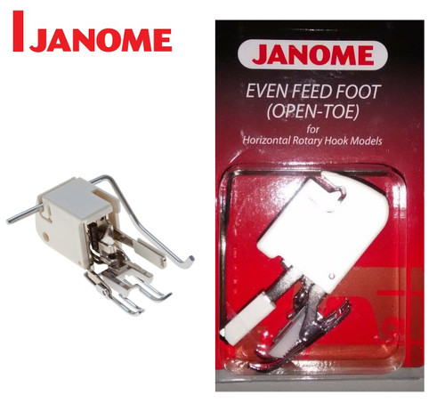 JANOME OPEN TOE EVEN FEED WALKING FOOT WITH QUILTING GUIDE - 200339007 - CATEGORY B - OPEN PACKET