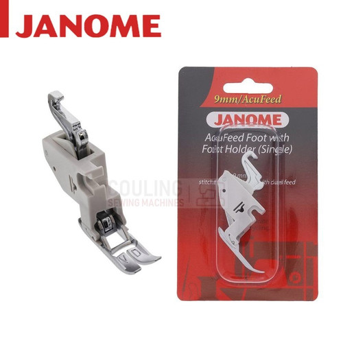 JANOME ACUFEED FOOT NARROW SINGLE + FOOT HOLDER VD - 202127006 9mm CATEGORY D