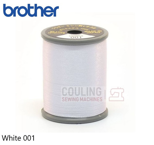 Brother Satin Embroidery Thread 100% Polyester 300m WHITE 001