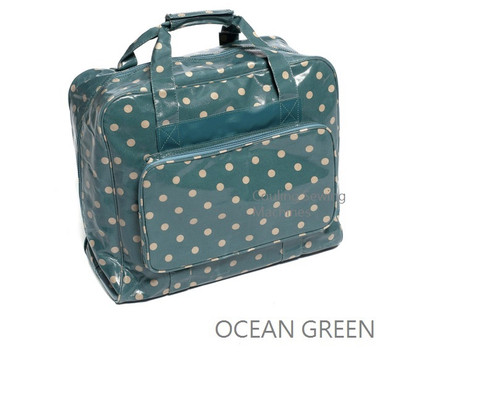 Premium Sewing Machine Carry Bag POLKA DOT OCEAN GREEN 004