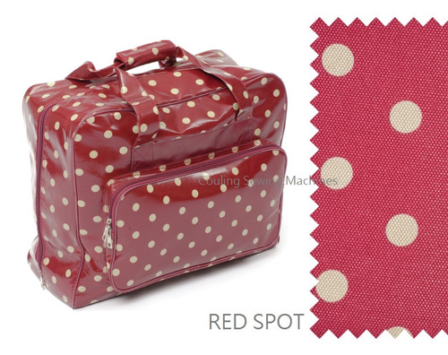 Premium Sewing Machine Carry Bag POLKA DOT RED 004