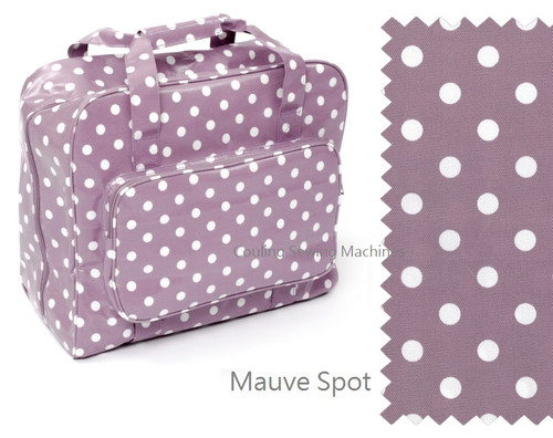 Premium Sewing Machine Carry Bag POLKA DOT MAUVE 121