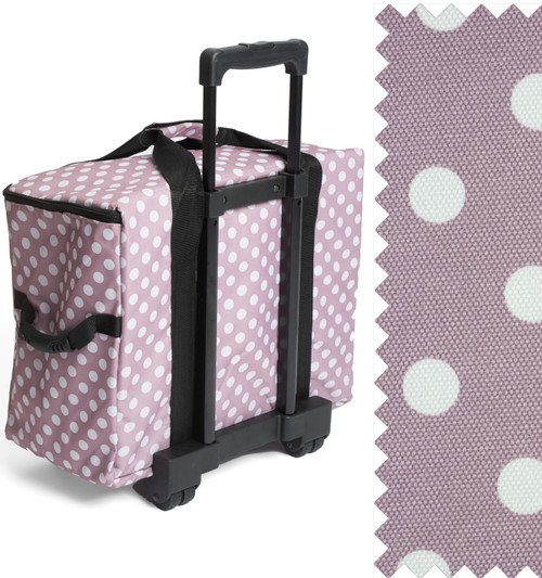 TROLLEY Premium Sewing Machine Trolley Bag MAUVE SPOT 006