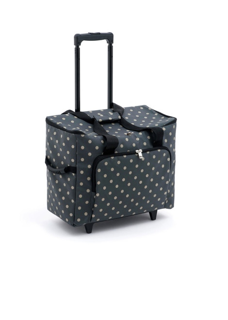 TROLLEY Premium Sewing Machine Trolley Bag CHARCOAL SPOT 263