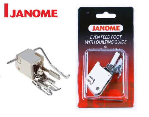 JANOME EVEN FEED WALKING FOOT WITH QUILTING GUIDE - 200311003 - CATEGORY B