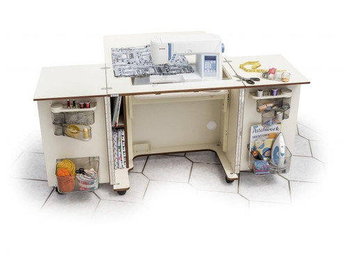 The MAXI OUTBACK Horn Sewing Cabinet WHITE 1052 Maxi + Air Lift