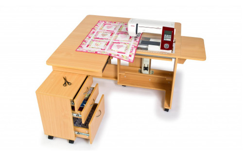 The QUILTER'S DELIGHT Mk2 Horn Sewing Cabinet 2032 Maxi aperture + Air Lift