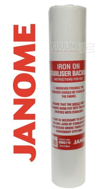 Janome Standard Iron On Stabiliser Backing 10m x 35cm