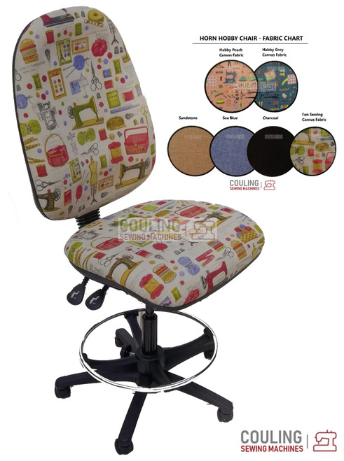 The Horn Hobby TALL Sewing Craft Chair Physiotherapist Approved