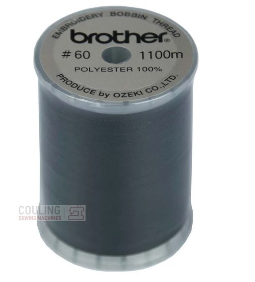 Brother Embroidery Bobbin Thread 1100m 60 weight BLACK