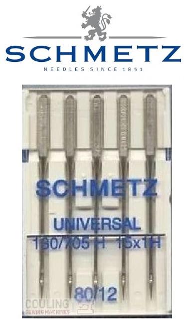 Schmetz Universal Sewing Machine Needles size 80/12