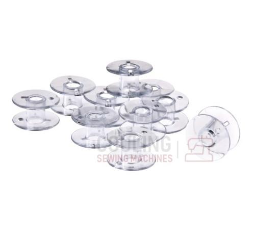 10 Standard Plastic Bobbins for Husqvarna Viking For Jade 20, 35, Emerald 116, 118, 122, Eden Rose 250M