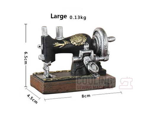 Mini Sewing Machine Sewing Room Resin Retro Ornament (U204)