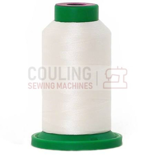 Isacord Polyester Thread 1000m - Bright White 0010