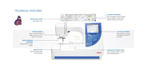 Elna eXpressive 820 Embroidery Only Machine  + Free Design CD with 1000s of designs