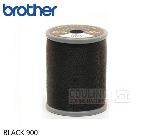 Brother Satin Embroidery Thread 100% Polyester 300m BLACK 900