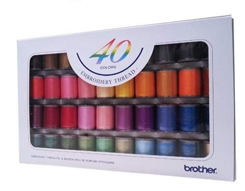 Brother Embroidery Thread Set  x 40 300m Satin ETS40N