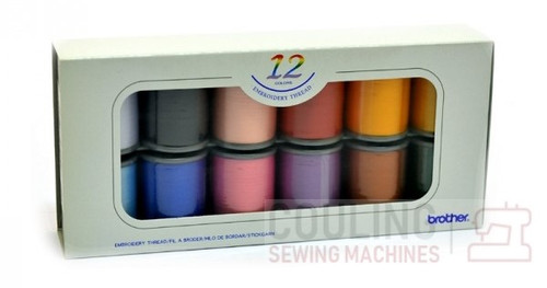 Brother Satin Embroidery Thread Set x 12 300m ETS12N