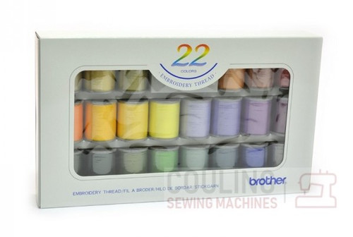 Brother Satin Embroidery Thread Set x 22 300m ETS22N
