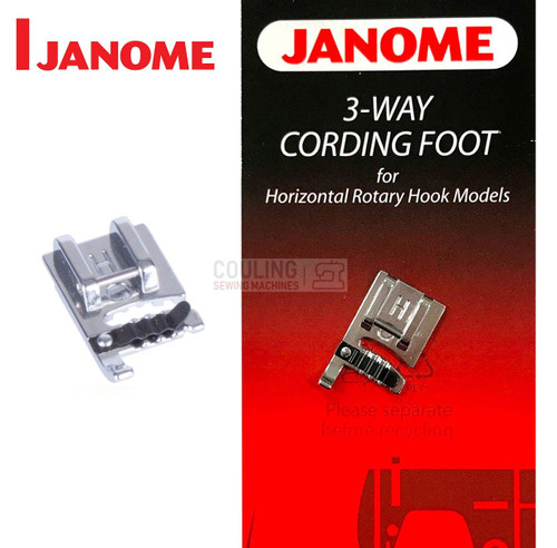 JANOME 3 WAY CORDING FOOT - 200345006 - CATEGORY B & C