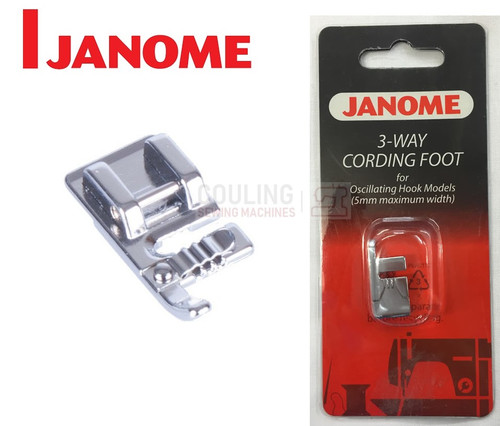 JANOME 3 WAY CORDING FOOT - 200126009 - CATEGORY A