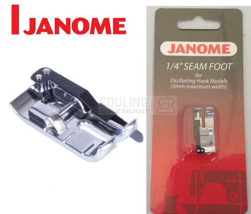 """JANOME 1/4"""" PATCHWORK SEAM FOOT - 200330008 - CATEGORY A"""