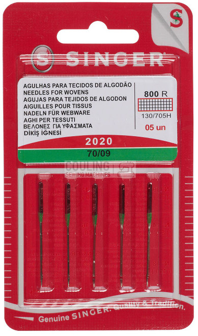 Singer Sewing Machine Needles 2020 Standard 70/09