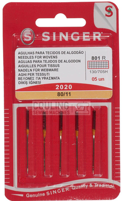 Singer Sewing Machine Needles 2020 Standard 80/11