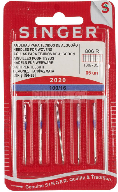 Singer Sewing Machine Needles 2020 Standard 100/16